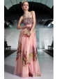 Elegant Column / Sheath Strapless Floor-length Printing Beading and Rhinestones Prom / Pageant Dress