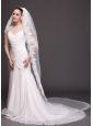Bridal Veils For Wedding WithTwo-tier Lace
