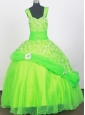 2013 Elegant Spring Dreen Little Girl Pageant Dresses With Beading