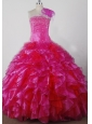 Exquisite Beading and Ruffles Ball Gown Little Girl Pageant Dress Strapless Floor-length