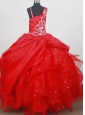 Beading Classical Ball Gown Little Girl Pageant Dress Straps Floor-length
