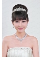 Gorgeous Alloy With Rhinestone Ladies' Necklace and Tiara