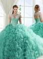 Unique Sweetheart Beaded Detachable Quinceanera Dresses with Rolling Flower